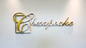 Cheaspeake Business Centre placard
